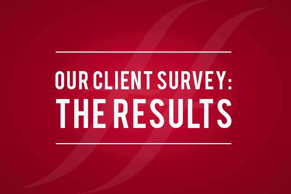 Client survey results