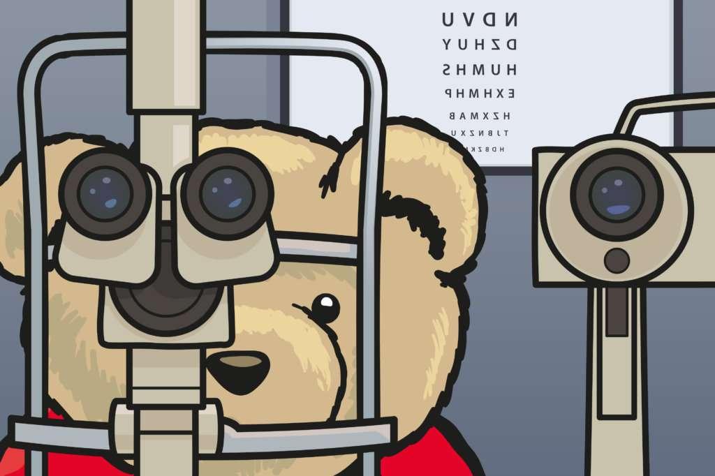 Eddie Teddie goes to Coleman Opticians