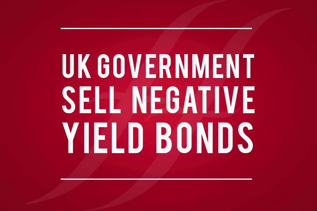UK Government Sell Negative Yield Bonds