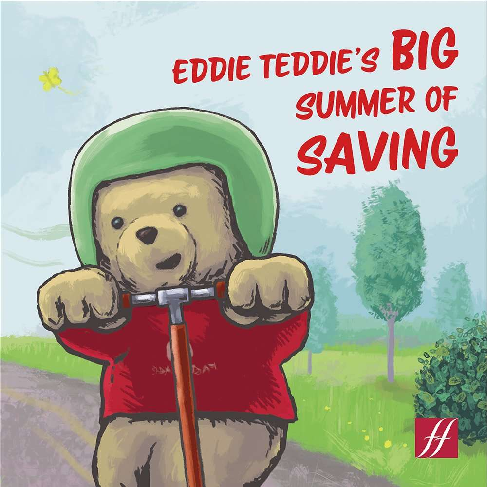 Eddie Teddie's Big Summer of Saving Book Cover