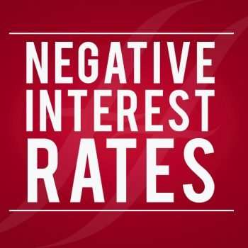 Face to Face graphic, text reads Negative Interest Rates