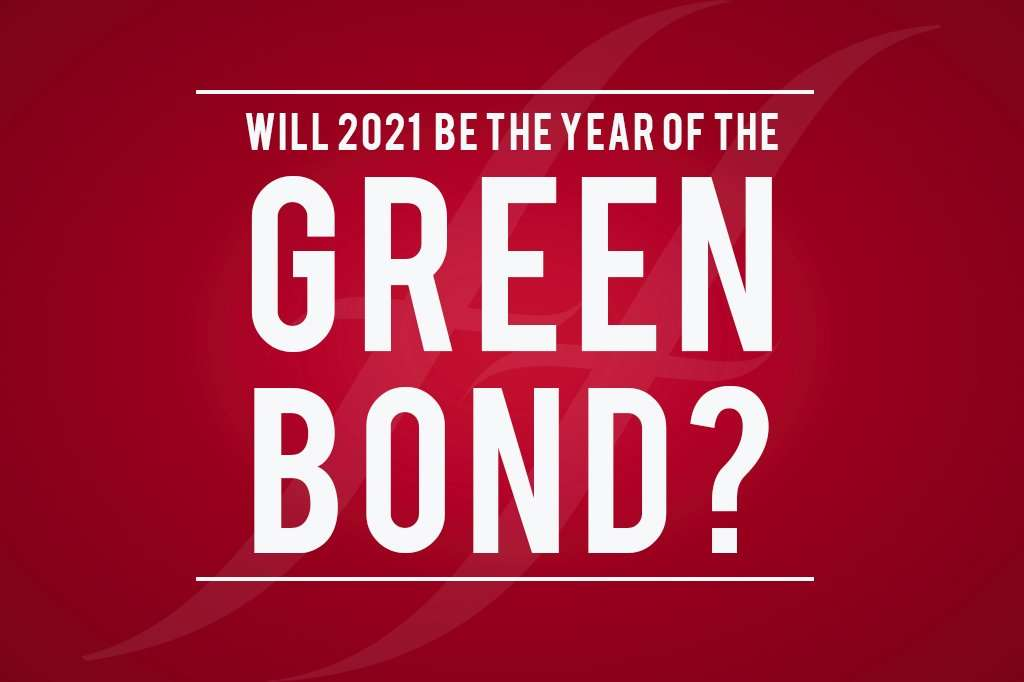 image reads 'will 2021 be the year of the green bond'