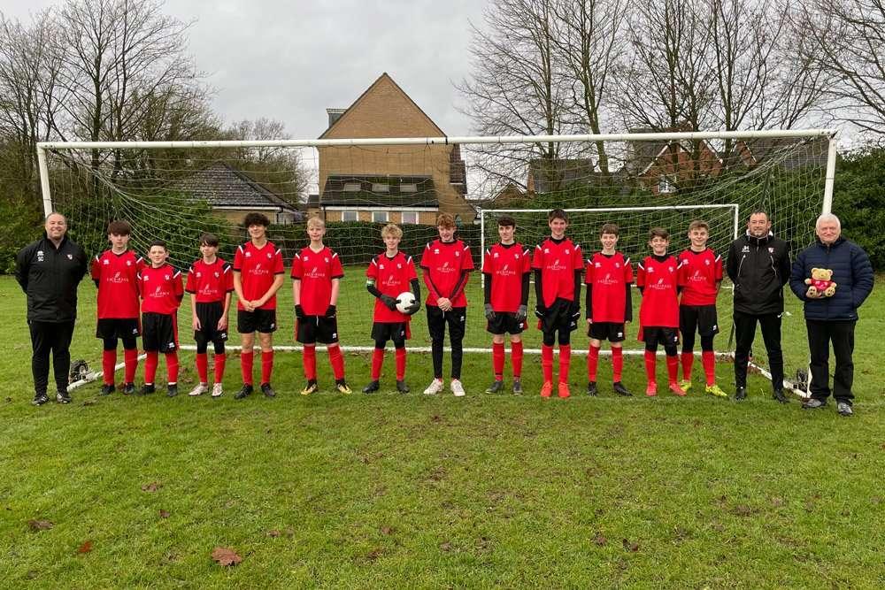 Eddie Meets the Long Stratton U15's Football Team