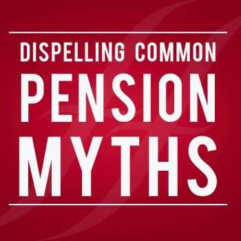 "image text reads ""dispelling common pension myths"""