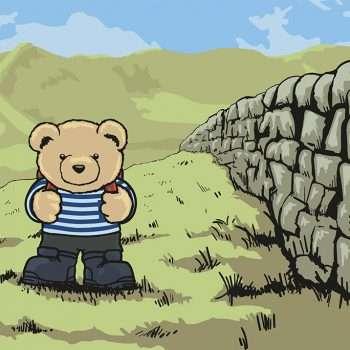 Eddie Teddie Walks Hadrian's Wall